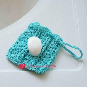 Vintage Lace Shells Soap Cozy | Free Crochet Pattern | American Crochet @americancrochet.com #freecrochetpattern