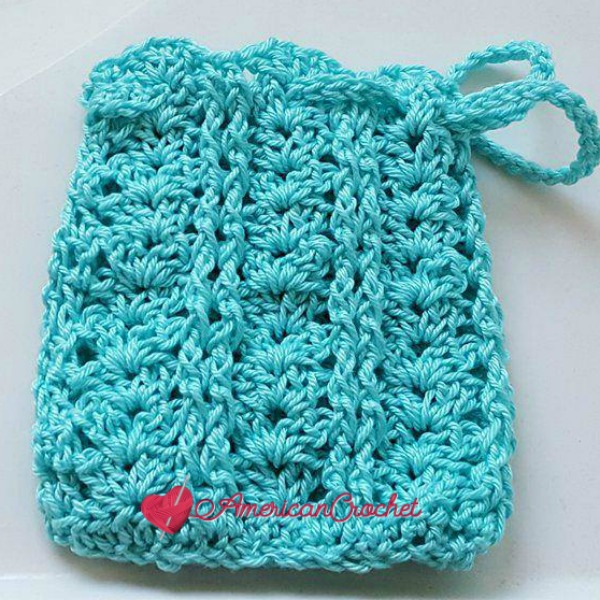 Vintage Lace Shells Soap Cozy | Crochet Pattern | American Crochet @americancrochet.com #crochetpattern