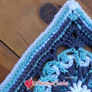 Nicole Circle in A Square | Free Crochet Pattern | American Crochet @americancrochet.com #freecrochetpattern