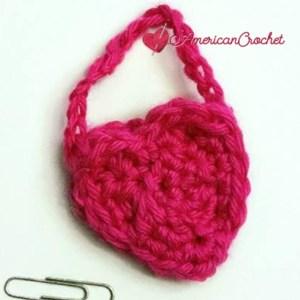 My Dolly Heart Purse | Free Crochet Pattern | American Crochet @americancrochet.com #freecrochetpattern
