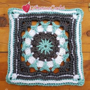 Tiffany Circle in A Square | Free Crochet Pattern | American Crochet @americancrochet.org #freecrochetpattern