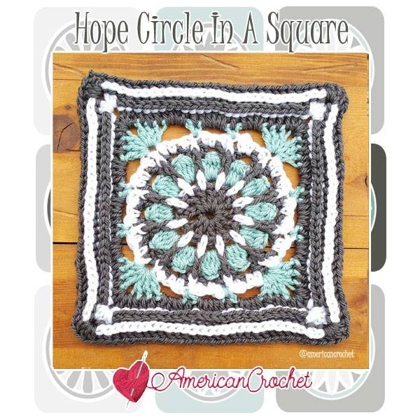 Hope Circle In A Square American Crochet Free Crochet Pattern