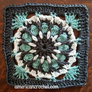 Hope Circle in A Square | American Crochet @americancrochet.com