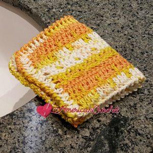 Effortless Washcloth | Free Crochet Pattern | American Crochet @americancrochet.com #freecrochetpattern