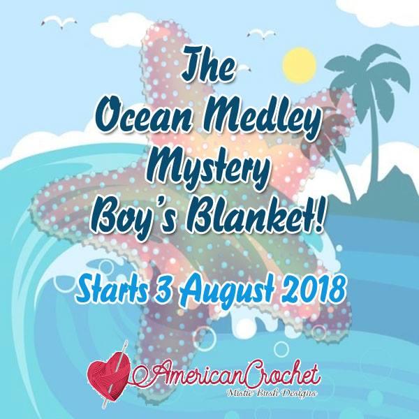 Ocean Medley Mystery Blanket CAL 2018 | Crochet Along | American Crochet @americancrochet.com #crochetalong