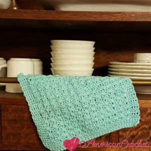 Honey Bee Dishcloth | Crochet Pattern | American Crochet @americancrochet.com #crochetpattern