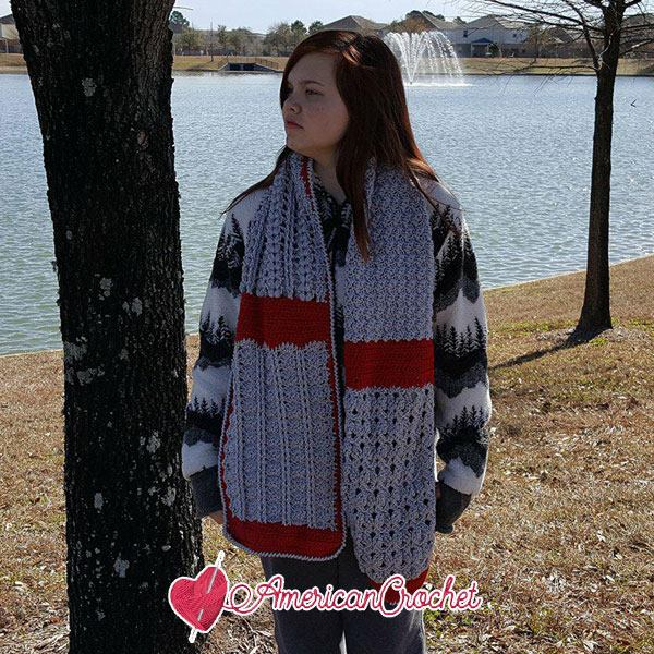 Romancing The Scarf Mystery Stitch Crochet Along | American Crochet @americancrochet.com #crochetalong