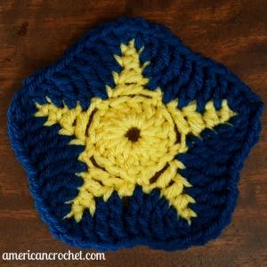 Sea Star Square | American Crochet @americancrochet.com