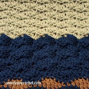 Ocean Medley Blanket Part Three | American Crochet @americancrochet.com #crochetalong