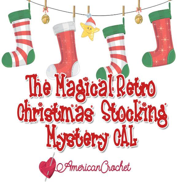 Magical Retro Christmas Stocking | American Crochet @americancrochet.com #crochetalong