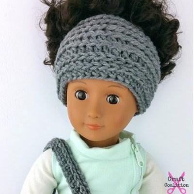 My Dolly Edgy Messy Bun Hat