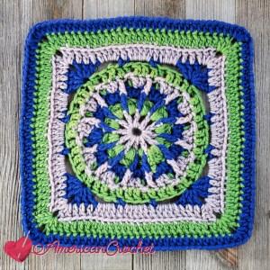 Back-roads Square | Crochet Pattern | American Crochet @americancrochet.com #crochetalong #crochetpattern