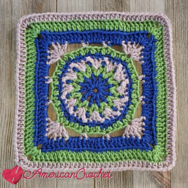 Benard Square | American Crochet @americancrochet.com #crochetalong