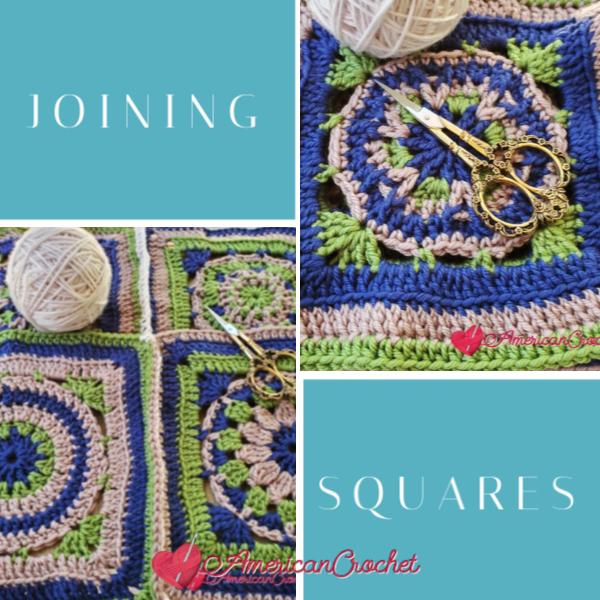 Joining Riverwood Squares | American Crochet @americancrochet.com