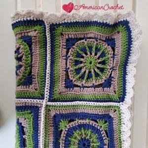 Edging Riverwood Squares | American Crochet @americancrochet.com