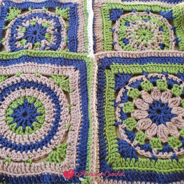 Joining Riverwood Squares | American Crochet @americancrochet.com