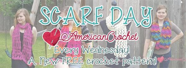 Scarf Day | American Crochet @americancrochet.com #scarfday