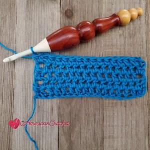 Half Double Crochet Between Stitches | American Crochet @americancrochet