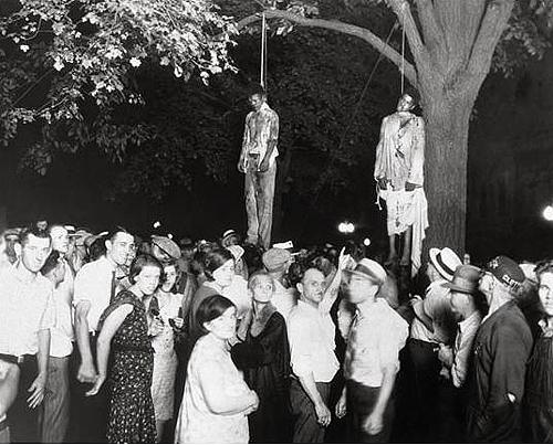 lynching of two men in 1930s.