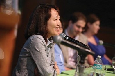 """""""I listened to my heart and that made me stronger."""" –Kyong Mee Choi Associate Professor of Music Composition and native of South Korea"""