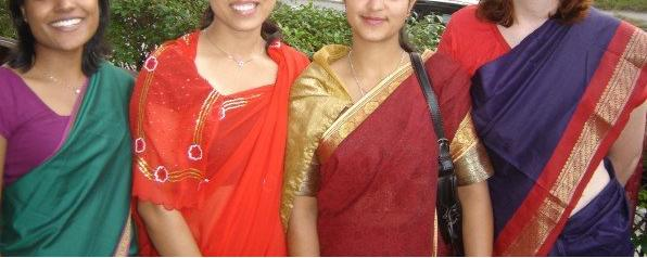 Teej ladies ready to go to the temple near my home...