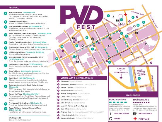 PVDFest 2017 map Providence Rhode Island