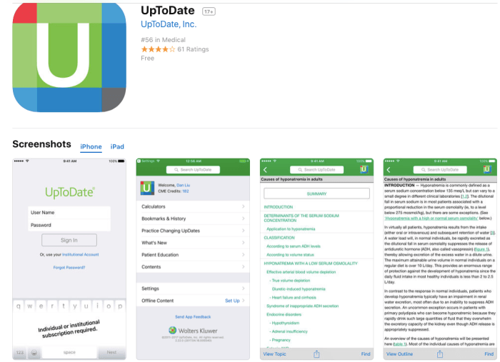 Uptodate App screenshot