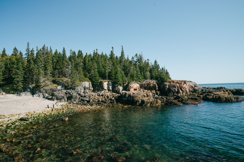 little hunters beach in acadia national park