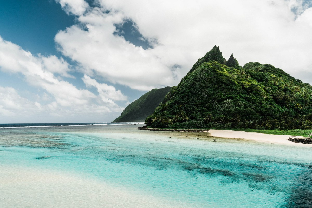 the island of ofu in the national park of american samoa