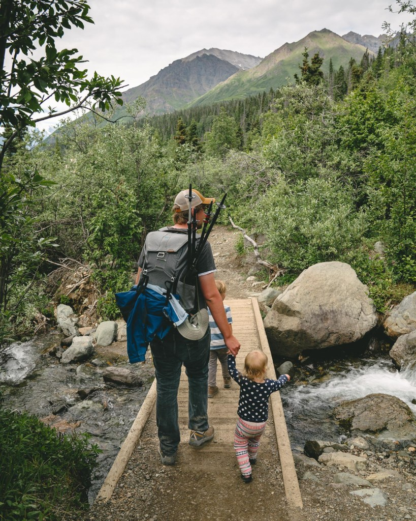 hiking with kids in wrangell st. elias national park
