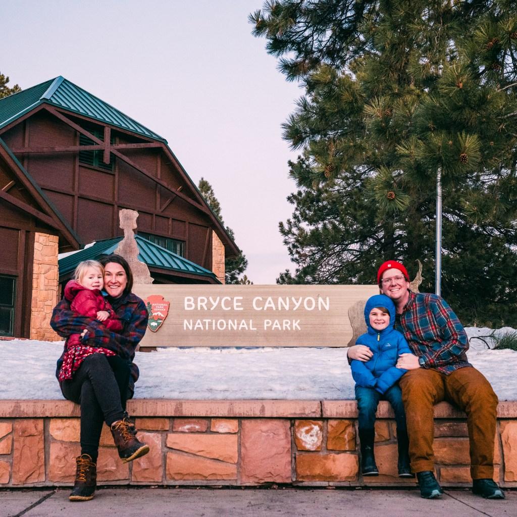family at bryce canyon national park