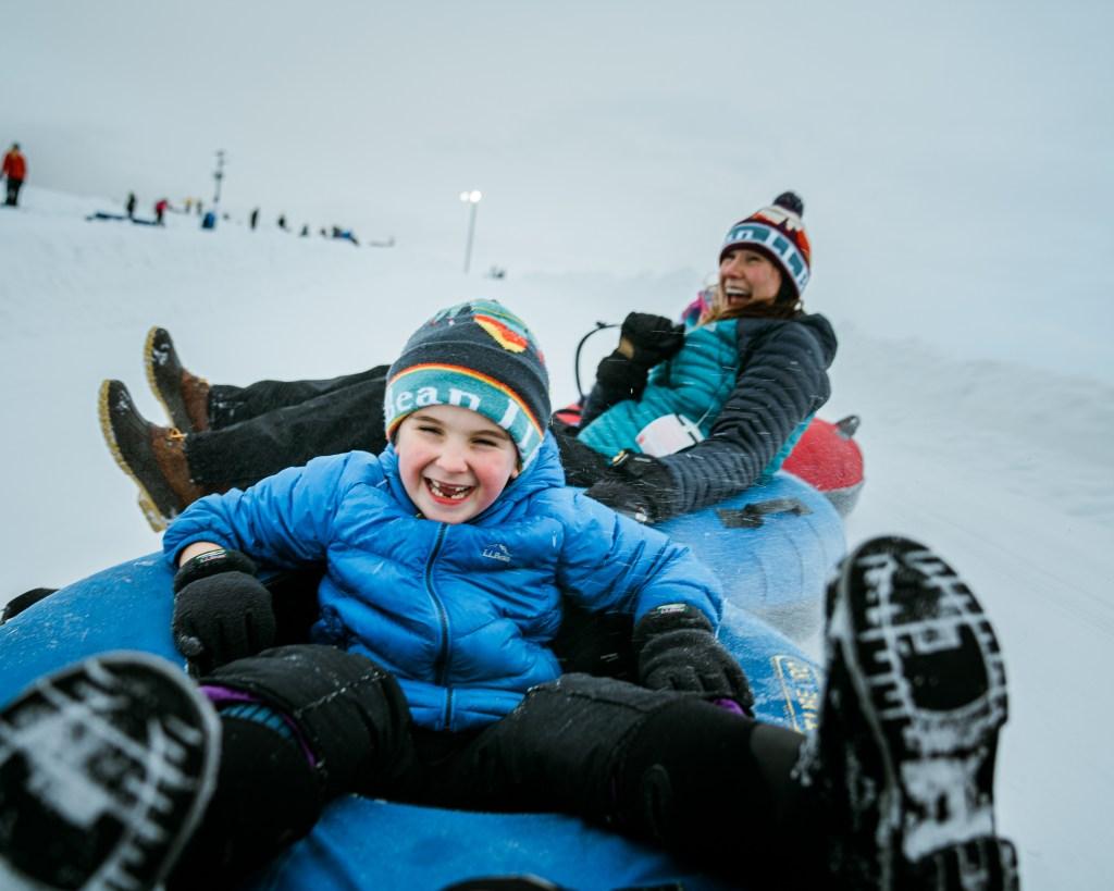 family tubing winter fun activities