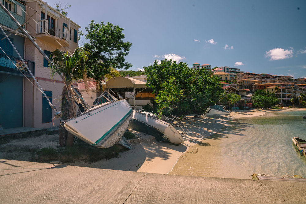 Shipwrecks in Cruz Bay.