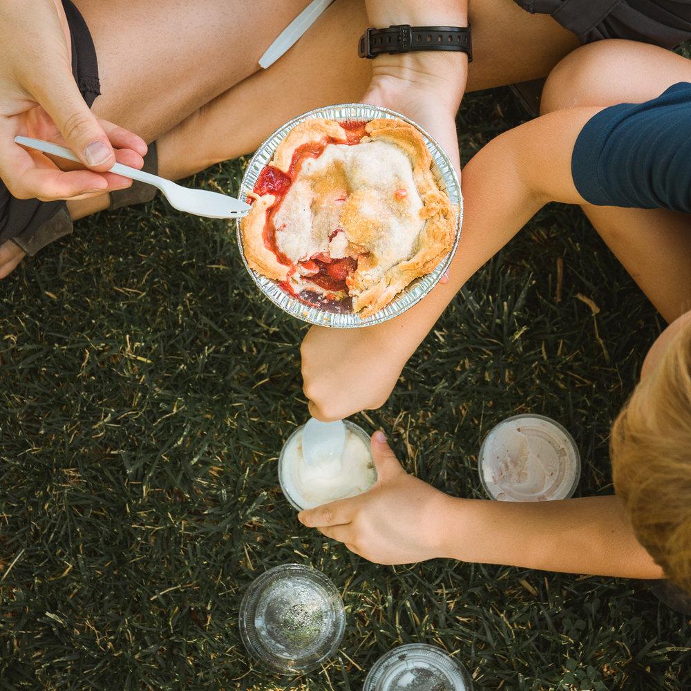 The scrummiest pie, in Fruita.