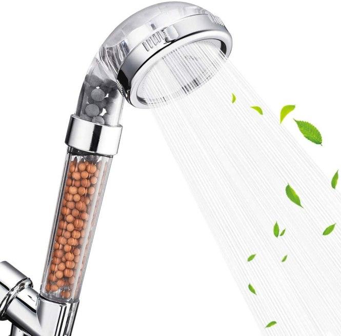 high speed shower head filter
