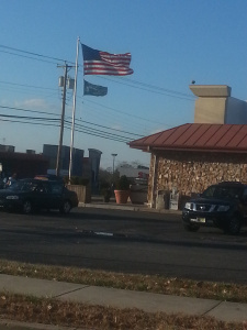 American Flag Sighting at P&B Diner