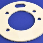 Silicone-fiberglass gasket used for insulation, custom manufactured and die cut by American Flexible Products.