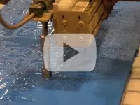"""Waterjet cutting, 1.75"""" hard rubber parts"""