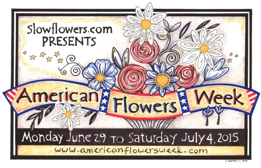 The 2015 American Flowers Week Logo
