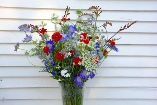 Enjoy these glorious red-white-and-blue flowers, picked just in time for American Flowers Week.