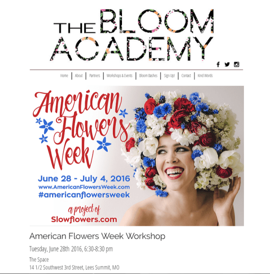 The Bloom Academy is already promoting the workshop on its web site.