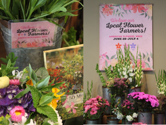 Local Flower Farmers on display at Town & Country and Central Market