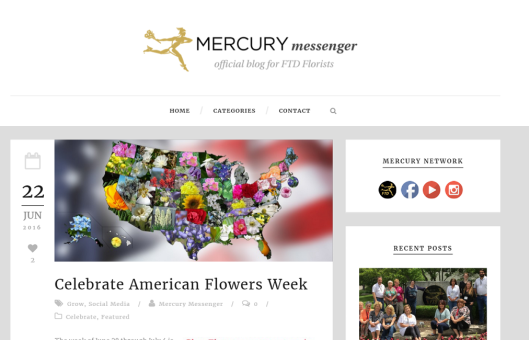 FTD rediscovered its roots and gave #americanflowersweek a shoutout!