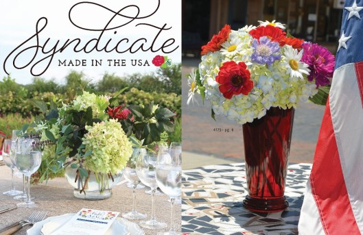 Made in the USA vases and floral supplies from Syndicate Sales