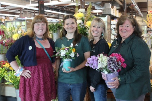 Danielle (left), with Melanie Cherry (far right) and Denise Johnson (department manager) at the Bainbridge Island Town & Country.