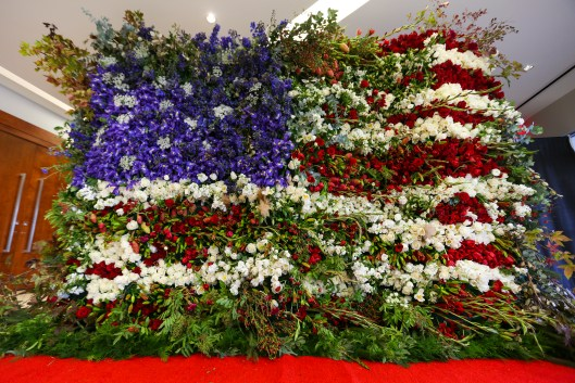Imagine: An 8-foot-tall by 12-foot-wide floral flag! All photos courtesy Certified American Grown.