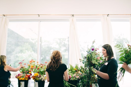 Gorgeous, natural light fills The Station, where florist Suzie Bunn and her business Statice Floral are based.