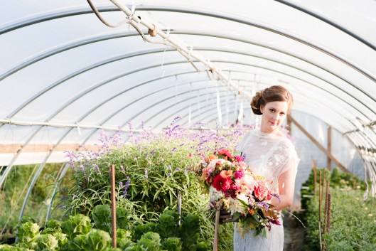 The high tunnels at Plant Masters reveal the floral agriculture that defines this beautiful Maryland flower farm.