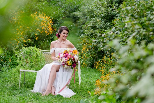 Kelly's summer story involves a real-life couple among a sea of Plant Masters' 'Limelight' panicle Hydrangeas. (c) Kirsten Smith Photography for summer series.