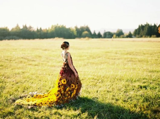 Amy Ly's Sunflower Gown